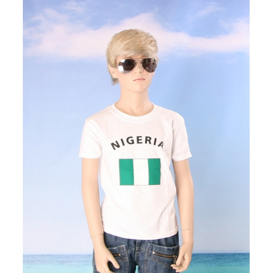 Kinder shirts met vlag van Nigeria