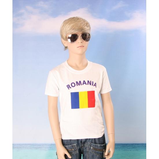 Kinder shirts met vlag van Roemenie