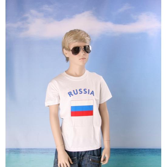 Kinder shirts met vlag van Rusland
