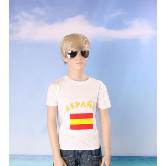 Kinder shirts met vlag van Spanje