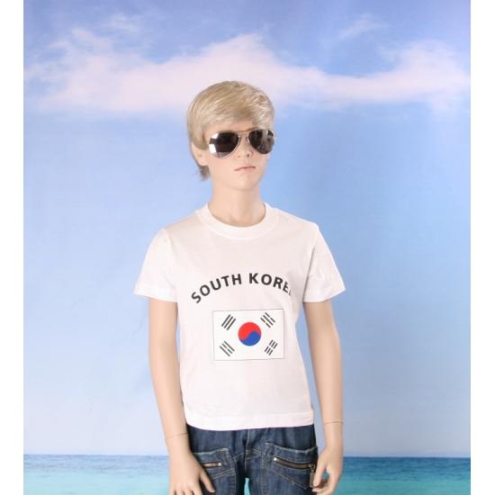 Kinder shirts met vlag van Zuid Korea