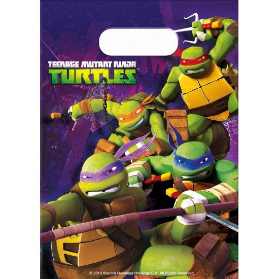 Kinder thema uitdeelzakjes Ninja Turtles 6 cm