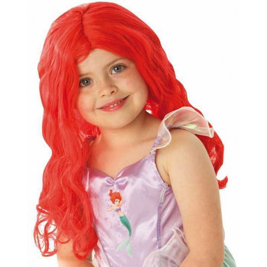 Kinderpruik rood haar lang