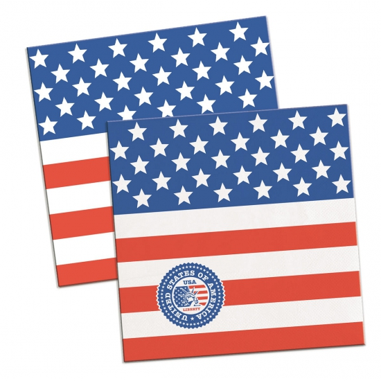 Kleine USA servetten 20 stuks