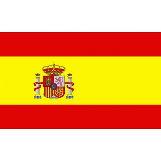Kleine vlag van Spanje 60 x 90 cm