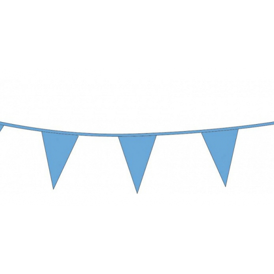Kobalt blauwe vlaggenlijn 10 meter