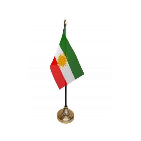 Koerdistan tafelvlaggetje inclusief standaard