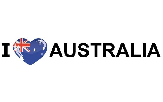Koffer stickers I Love Australia