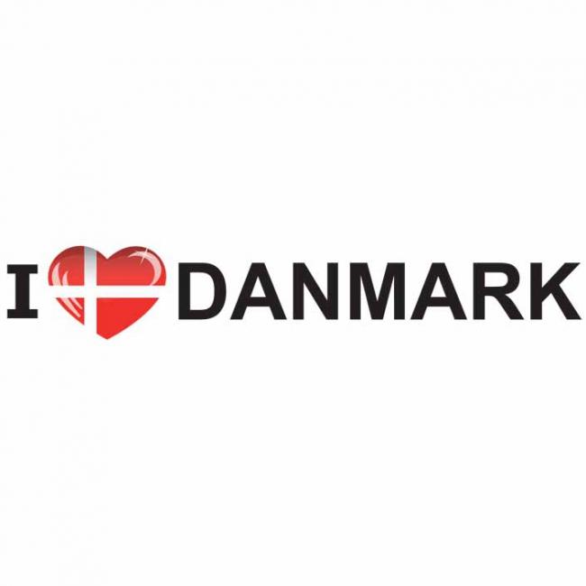 Koffer stickers I Love Denmark