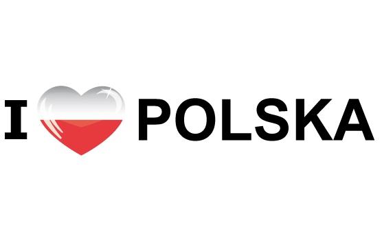 Koffer stickers I Love Polska