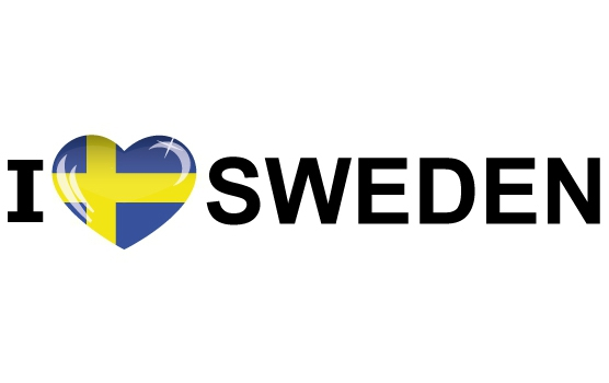 Koffer stickers I Love Sweden