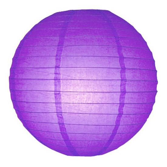 Lampion 25 cm paars
