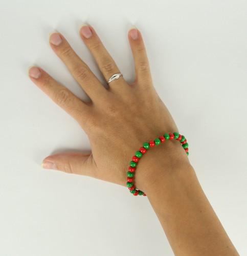 Landen kralen armband rood groen