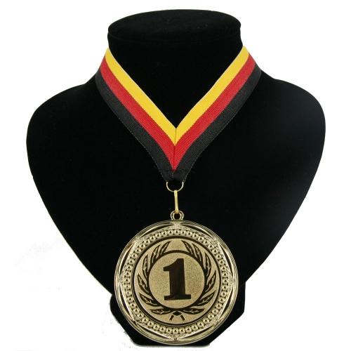 Landen lint nr. 1 medaille rood geel zwart