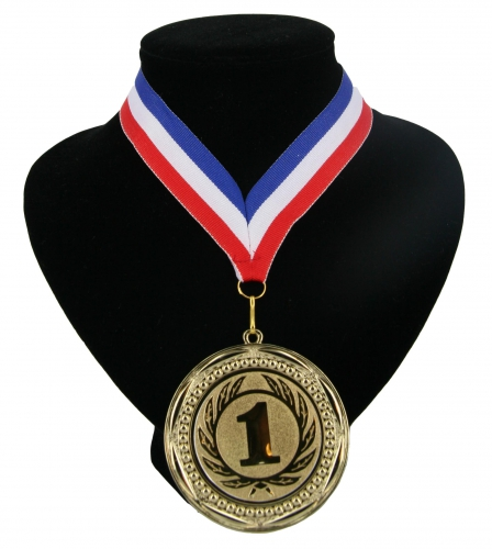 Landen lint nr. 1 medaille rood wit blauw