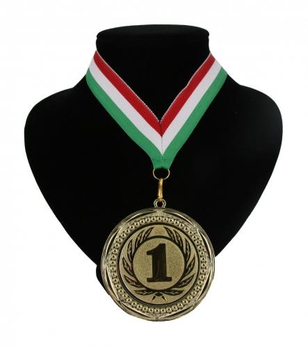 Landen lint nr. 1 medaille rood wit en groen