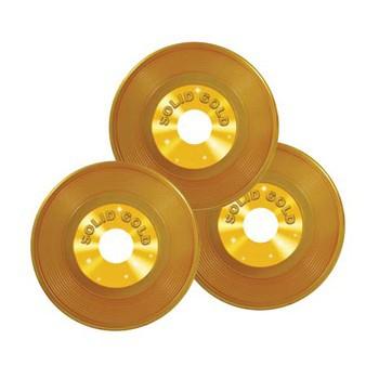Langspeelplaat decoratie goud 23 cm