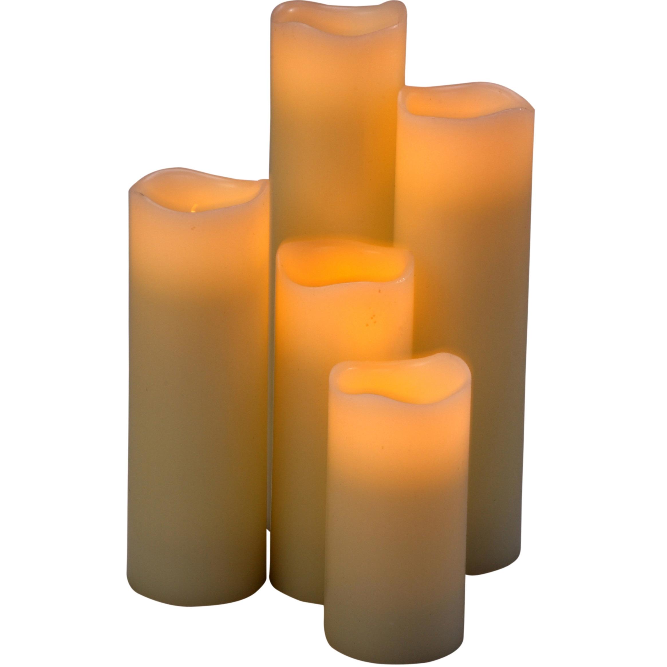 LED kaarsjes 5 stuks