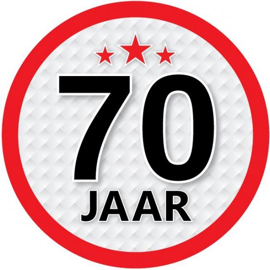 Leeftijd versiering sticker 70 jaar