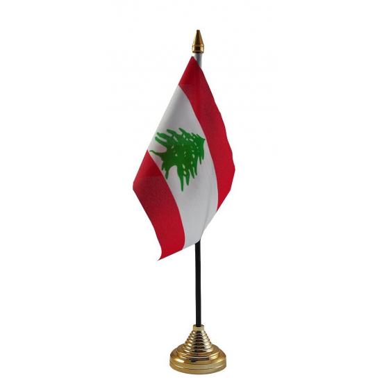 Libanon vlag met standaard