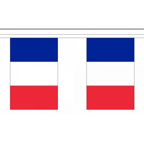 Luxe Frankrijk vlaggenlijn 9 meter