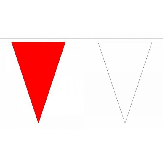 Luxe rood met witte vlaggenlijn 20 m