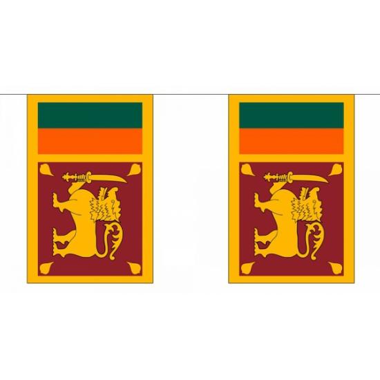 Luxe Sri Lanka vlaggenlijn 9 meter