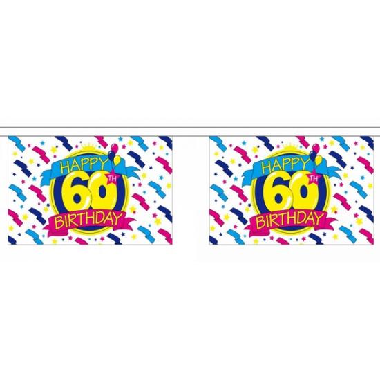 Luxe vlaggenlijn 60e verjaardag 9 meter