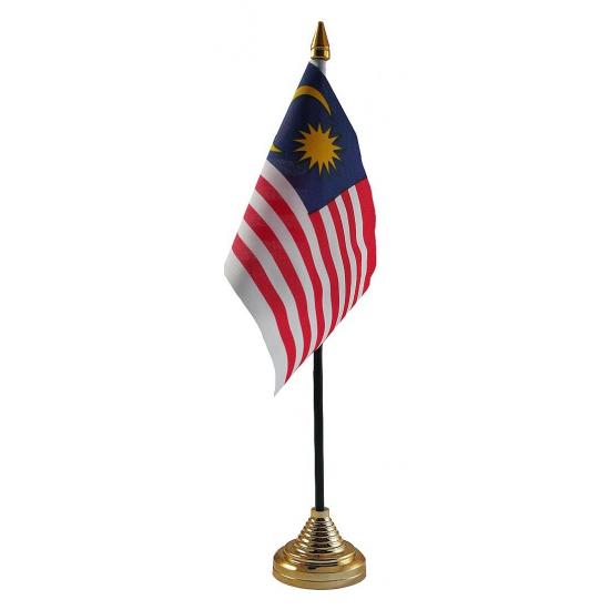 Maleisie tafelvlaggetje inclusief standaard