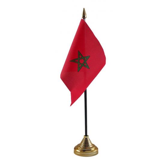 Marokko vlag met standaard
