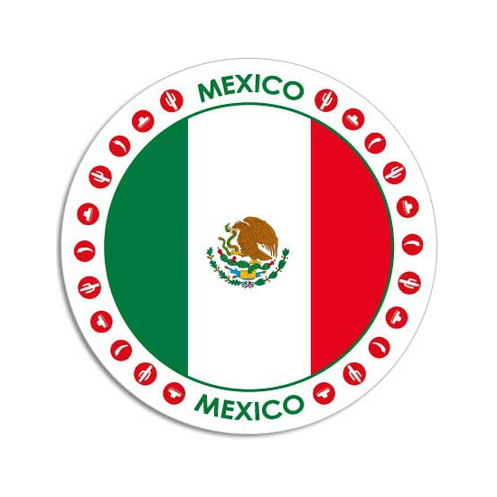 Mexico sticker rond