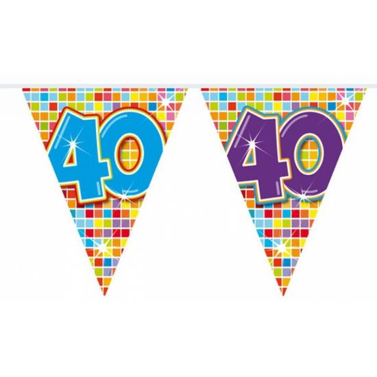 Mini vlaggenlijn met leeftijd 40