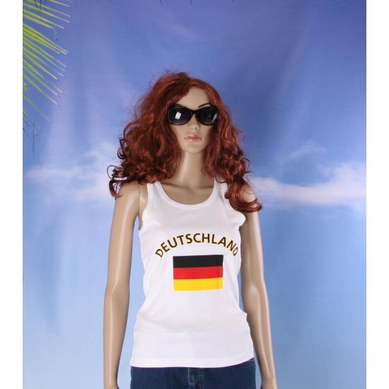 Mouwloos shirt met vlag Duitsland print voor dames