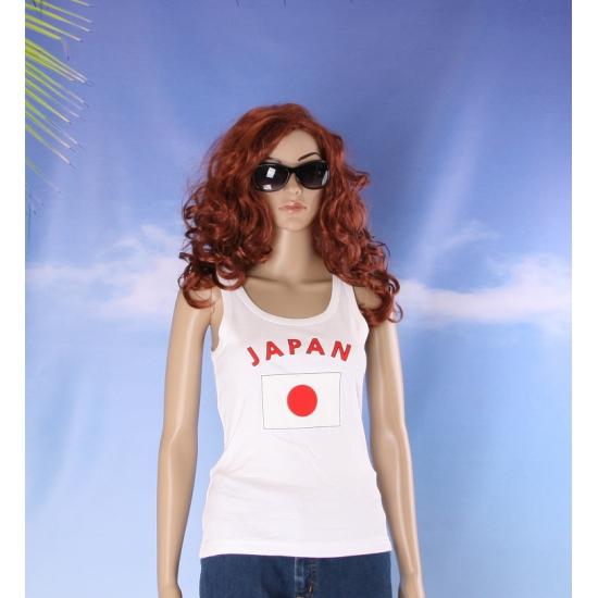 Mouwloos shirt met vlag Japan print voor dames