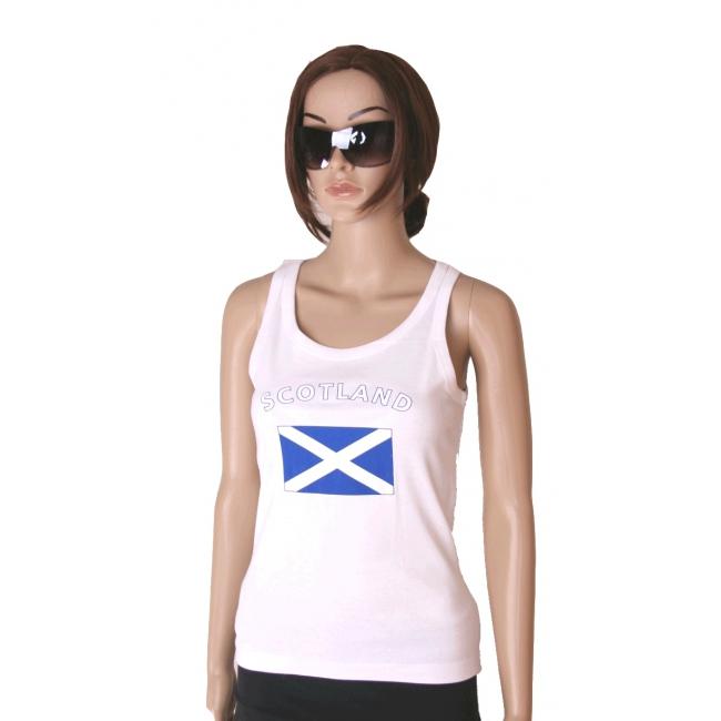 Mouwloos shirt met vlag Schotland print voor dames