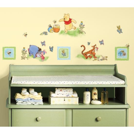 Muurdecoratie stickers Winnie de Poeh