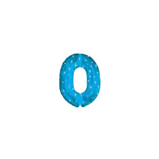 Nummer ballonnen 0 blauw
