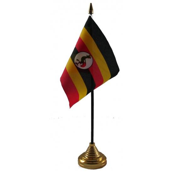 Oeganda vlag met standaard