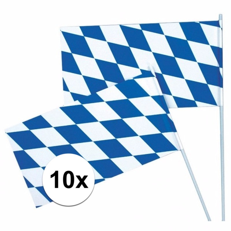 Oktoberfest zwaaivlaggen 10 x