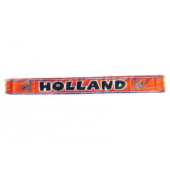 Oranje fan shawl Holland met leeuwen