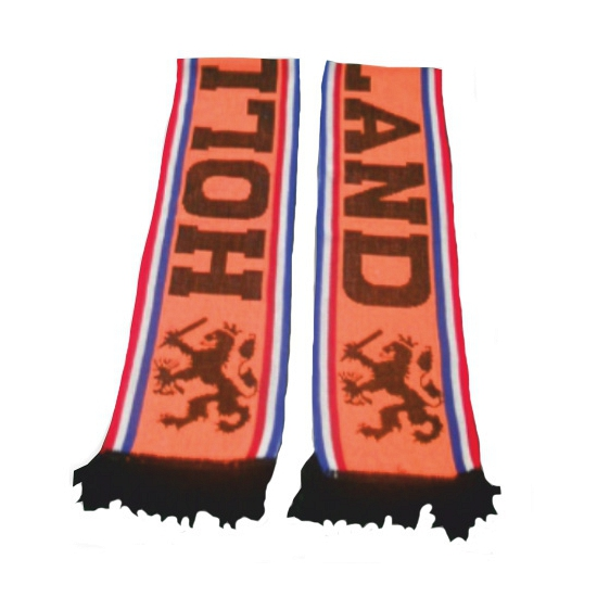 Oranje fan sjaals Holland met leeuwen enkel gedrukt