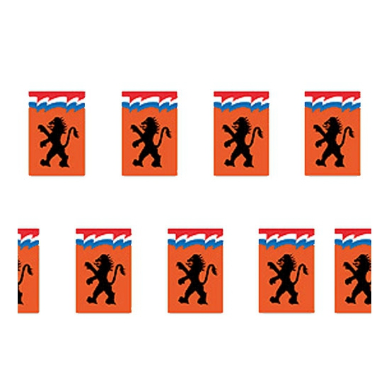 Oranje leeuw vlaggenlijn 8 meter