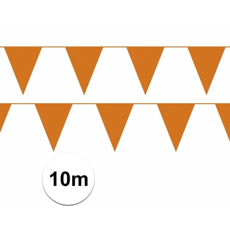 Oranje slingers 10 meter