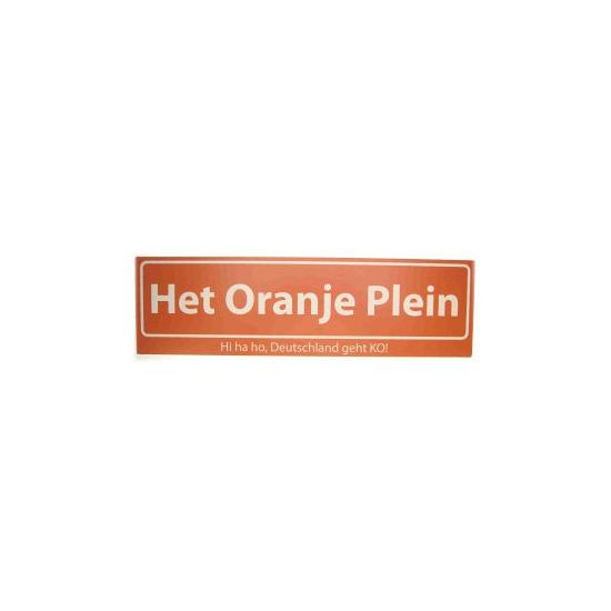 Oranje straatbord Het Oranje Plein