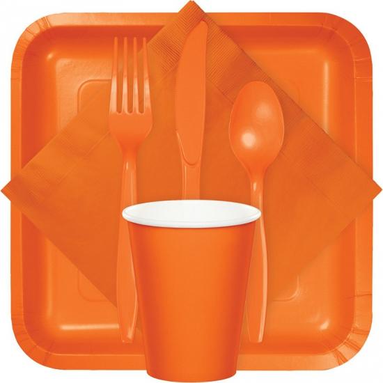 Oranje thema servetten