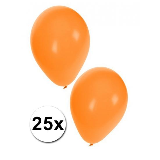 Oranje versier ballonnen 25 stuks