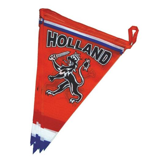 Oranje vlaggenlijnen met leeuw brandvertragend