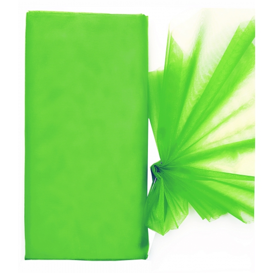 Organza stof groen op rol 150 x 300 cm