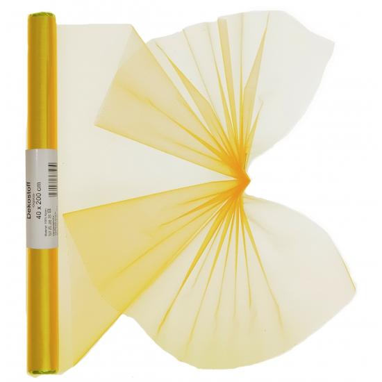 Organza tule rol geel 40 x 200 cm