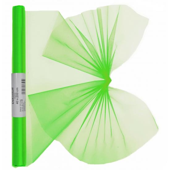 Organza tule rol neon groen 40 x 200 cm